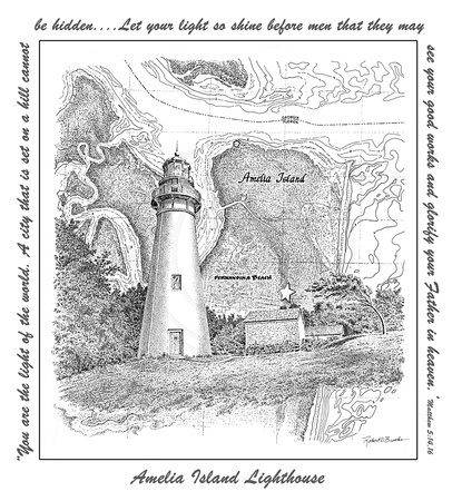 Lighthouse with Scripture