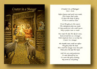 """Creator in a Manger"" - Christmas Card"